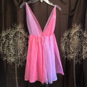 Other - VINTAGE Lingerie Colorblock Nightgown Nightie Gown